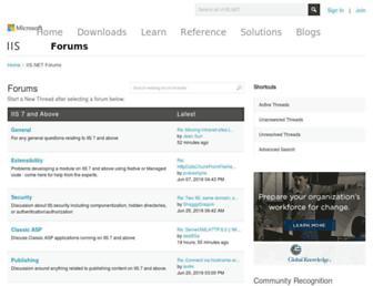 forums.iis.net screenshot