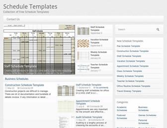 scheduletemplate.org screenshot