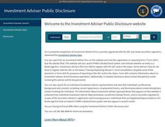 adviserinfo.sec.gov screenshot