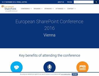 sharepointeurope.com screenshot