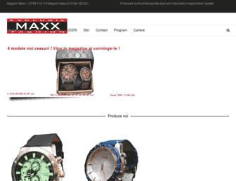 maxx.com.ro screenshot