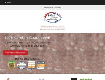 totalcomforthelp.com screenshot