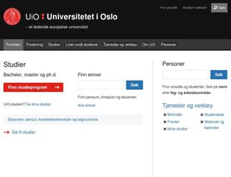 uio.no screenshot