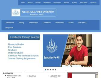 Thumbshot of Aiou.edu.pk