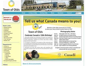 olds.ca screenshot