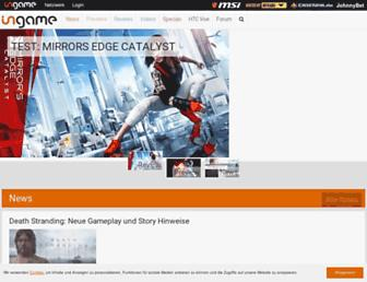 Main page screenshot of ingame.de