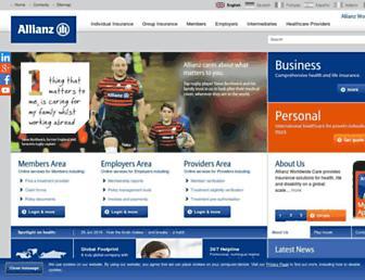 Thumbshot of Allianzworldwidecare.com