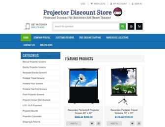 projectordiscountstore.com screenshot