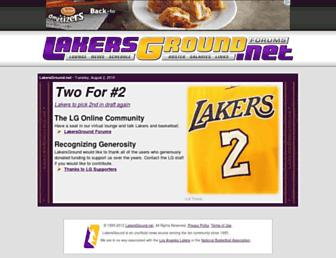Main page screenshot of lakersground.net
