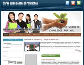 balajipolytechnic.org screenshot