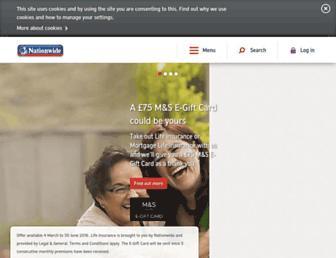 Main page screenshot of nationwide.co.uk