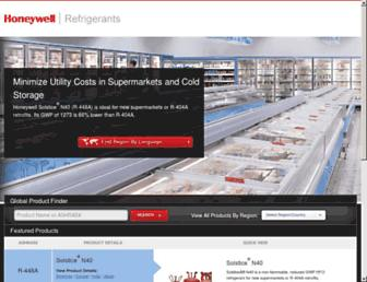honeywell-refrigerants.com screenshot