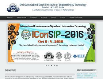 sggs.ac.in screenshot