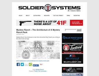 Main page screenshot of soldiersystems.net