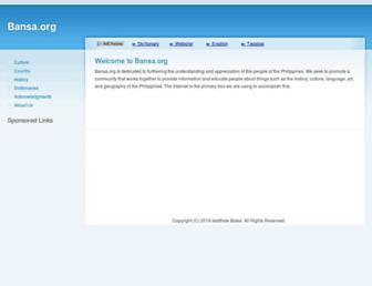 bansa.org screenshot