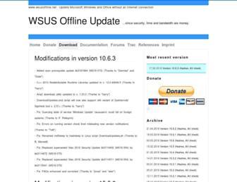 download.wsusoffline.net screenshot