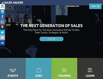 saleshacker.com screenshot