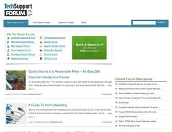techsupportforum.com screenshot