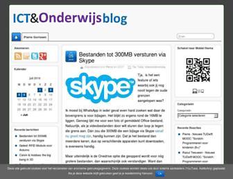 Main page screenshot of ictoblog.nl