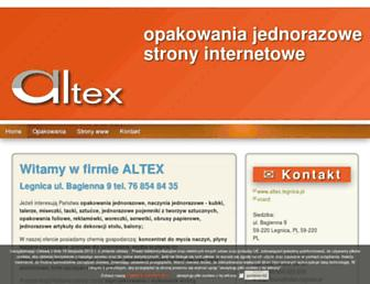 Main page screenshot of altex.legnica.pl