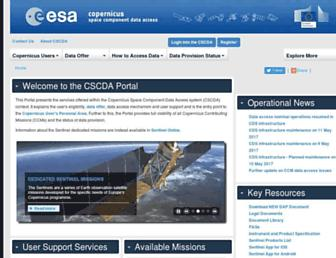 spacedata.copernicus.eu screenshot
