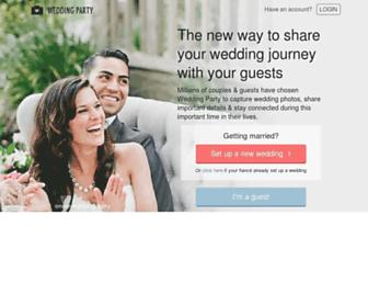 Thumbshot of Weddingpartyapp.com