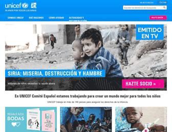unicef.es screenshot