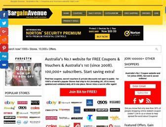 thebargainavenue.com.au screenshot