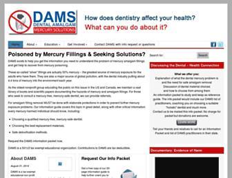 Main page screenshot of amalgam.org