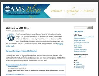 Main page screenshot of blogs.ams.org