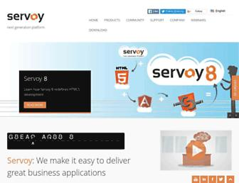 servoy.com screenshot