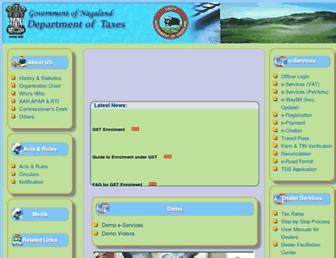 nagalandtax.nic.in screenshot