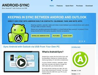 android-sync.com screenshot