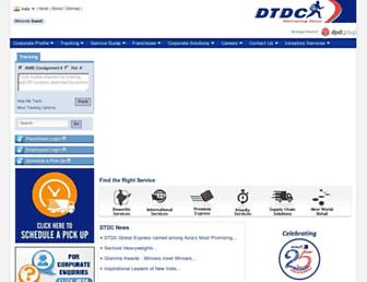 dtdc.in screenshot