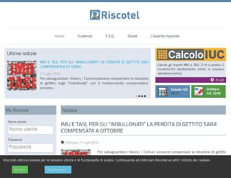 Main page screenshot of riscotel.it