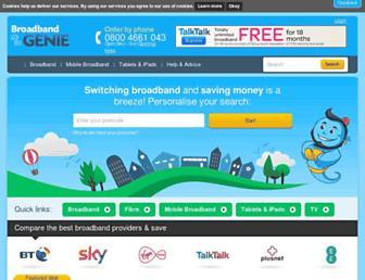 Thumbshot of Broadbandgenie.co.uk