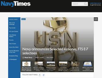 navytimes.com screenshot