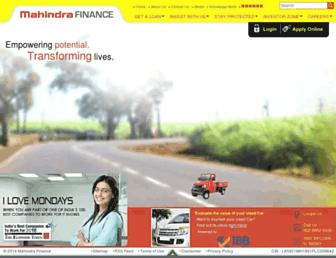 Thumbshot of Mahindrafinance.com
