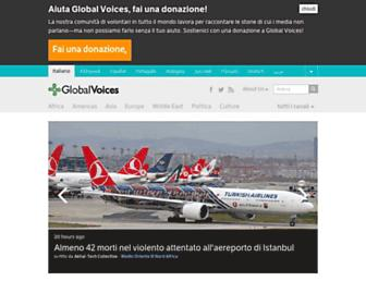 Main page screenshot of it.globalvoicesonline.org