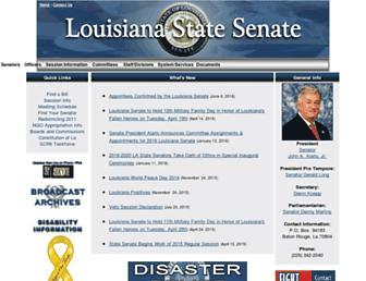 senate.legis.state.la.us screenshot
