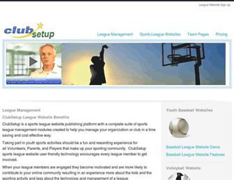 Screenshot for clubsetup.com