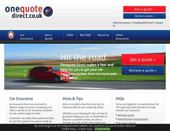 onequotedirect.co.uk screenshot