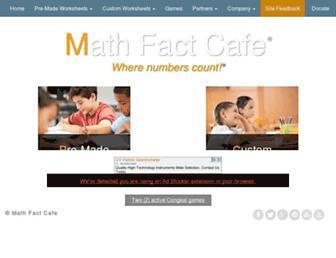 Thumbshot of Mathfactcafe.com