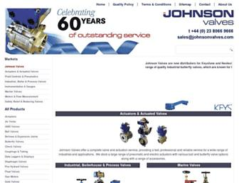 johnsonvalves.co.uk screenshot