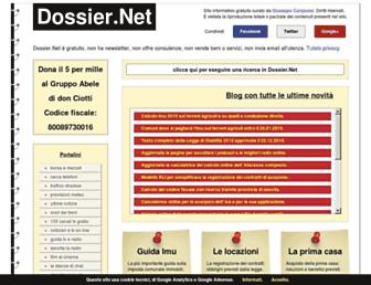Main page screenshot of dossier.net