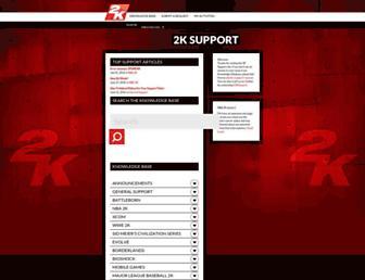 support.2k.com screenshot