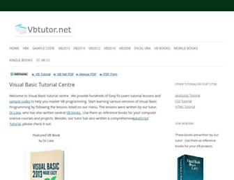 vbtutor.net screenshot