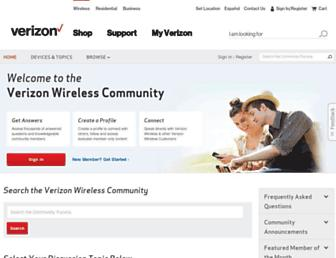 community.verizonwireless.com screenshot