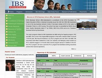 ibshyderabad.org screenshot