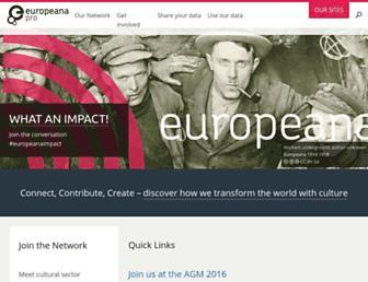 pro.europeana.eu screenshot